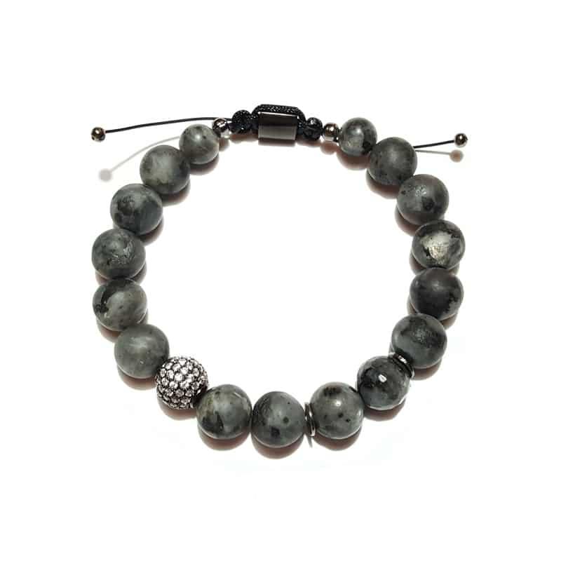 Bracelets for Men - Dark Luster (10 mm) - Marija Lennore © 2017